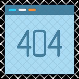 404 Flat Icon