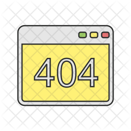 404 page not found Icon