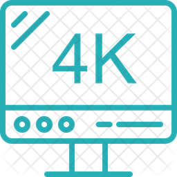 4K Screen Icon