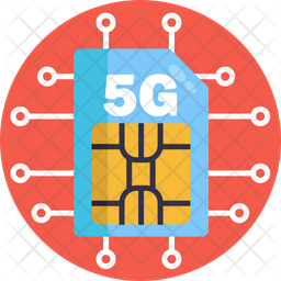 5G Sim card Icon