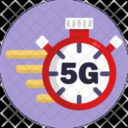 5G Stopwatch Icon