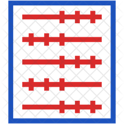 Abacus Flat Icon
