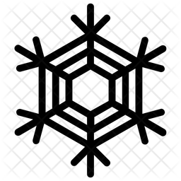 Abstract Geometric Snowflake Icon