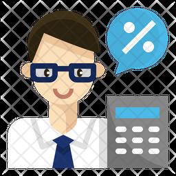 Accountant Flat Icon