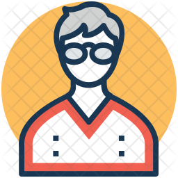 Accountant Colored Outline Icon