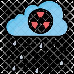 Acid Rain Colored Outline Icon