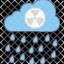 Acid Rain Flat Icon