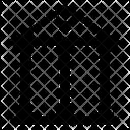 Acropolis Glyph Icon