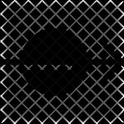 Across Glyph Icon