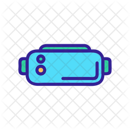 Activity Glasses Colored Outline Icon