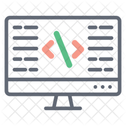 Adaptive  Coding Colored Outline Icon