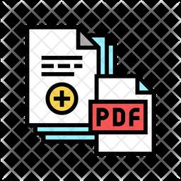 Add Pdf File Colored Outline Icon