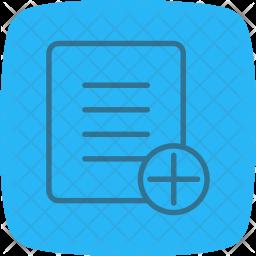 Add, Plus, New, File Icon