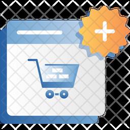 Add Shopping Website Icon