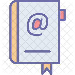 Address Book Icon Of Colored Outline Style Available In Svg Png Eps Ai Icon Fonts