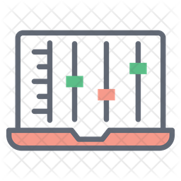Admin Panel Colored Outline Icon