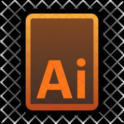Adobe ai file Flat Icon