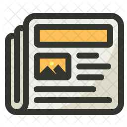 Advertisement Colored Outline Icon