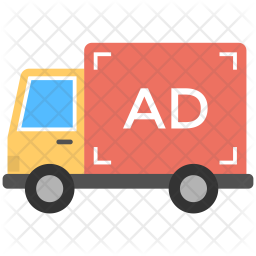 Advertising on Transport Icon