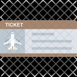Aeroplane Ticket Flat Icon