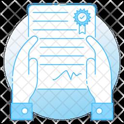 Affidavit Colored Outline Icon