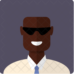 African-American bald man Icon