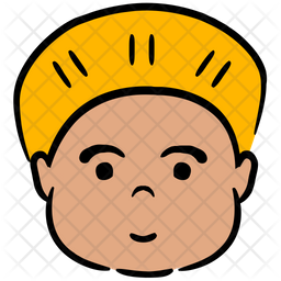 African Avatar Colored Outline Icon