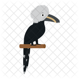 African White Crested Hornbill Icon
