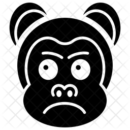 Aggressive Monkey Face Glyph  Emoji Icon