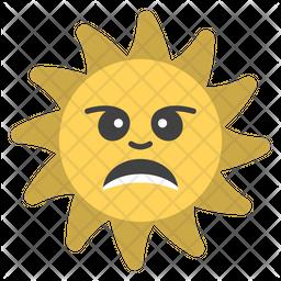 Aggressive Sun Emoji Icon