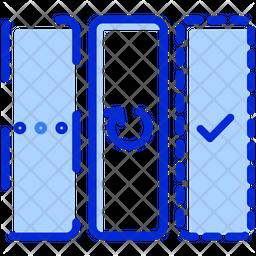 Agile Board Colored Outline Icon