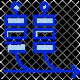 Agile Boards Colored Outline Icon