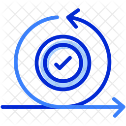 Agile Iteration Colored Outline Icon
