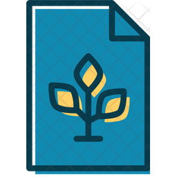 Agricultural Lessons File Colored Outline Icon
