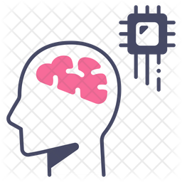 Ai Brain Icon Of Colored Outline Style Available In Svg Png Eps Ai Icon Fonts
