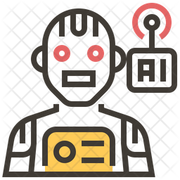 Ai Robot Colored Outline Icon