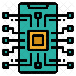 Ai Technology Colored Outline Icon