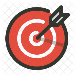 Aim Colored Outline Icon