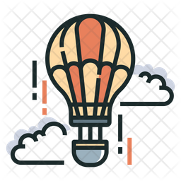 Air Colored Outline Icon