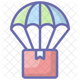 Air Balloon Delivery Icon