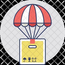 Air Balloon Delivery Box Icon