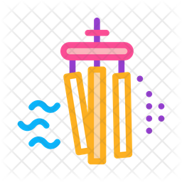 Air Bells Colored Outline Icon