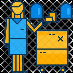 Air Hostess Icon