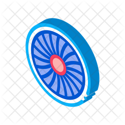 Airplane Fan Icon