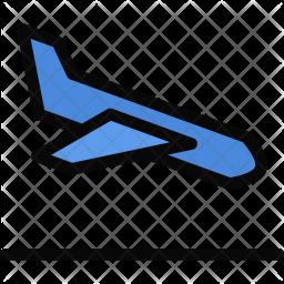 Airplane, Landing, Beach, Holidays, Camping, Travel Icon