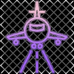Airplane Runway Icon