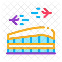 Airport Colored Outline Icon