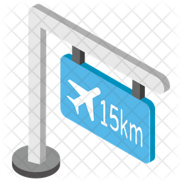 Airport Guidepost Icon