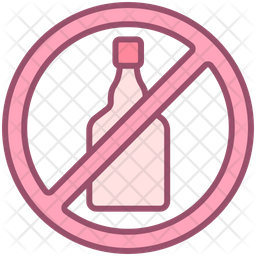 Alcohol Free Icon Of Colored Outline Style Available In Svg Png Eps Ai Icon Fonts