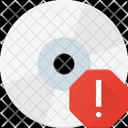 Alert in disk Icon